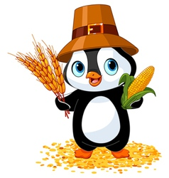 Penguin farmer vector