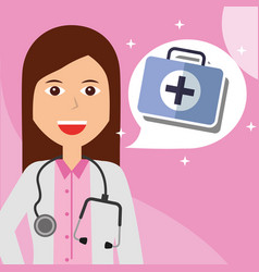 people medical profession vector image