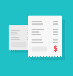 receipt pay or paper bill payment vector image