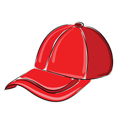 red hat on white background vector image