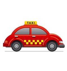 Red taxi icon vector