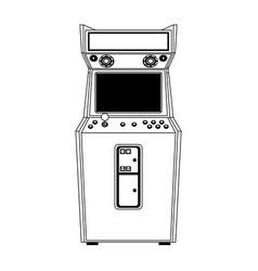 Retro arcade videogame classic console in black vector