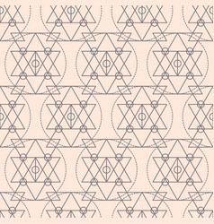 sacred geometry shapes seamless pattern vector image