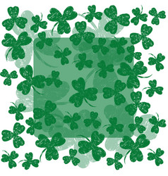 saint patricks day frame and space for text vector image