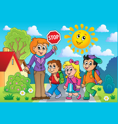 School kids theme image 2 vector