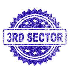 Scratched 3rd sector stamp seal vector