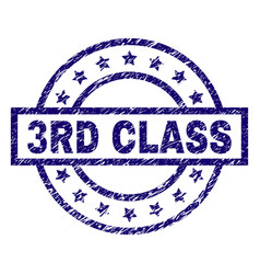 scratched textured 3rd class stamp seal vector image