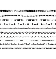 Seamless borders vector