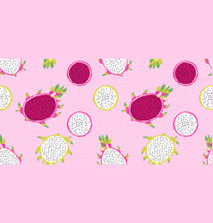 seamless pattern exotic tropical ripe vector image