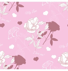 Seamless pattern with rose and peony vector image vector image