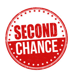 Second chance grunge rubber stamp vector