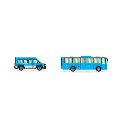set of buses transport for transportation of vector image