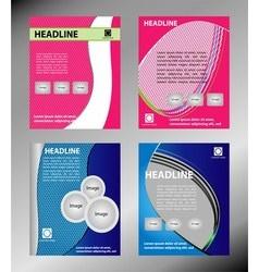 Set of Flyer Design Web Templates Brochure vector image
