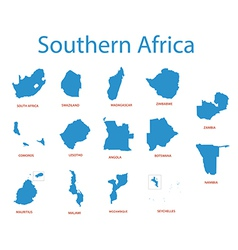 southern africa - maps of territories vector image