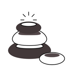 Stones pile spa icon vector