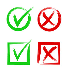 tick and cross signs symbols yes and no accept vector image