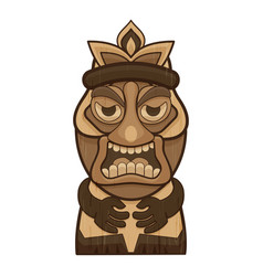 Tiki icon cartoon style vector