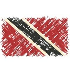 Trinidad and Tobago grunge flag vector