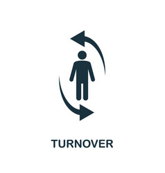 Turnover icon creative element from business vector