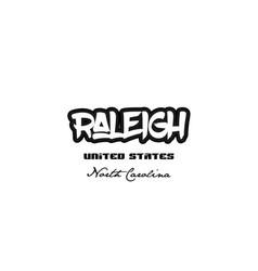 United states raleigh north carolina city vector