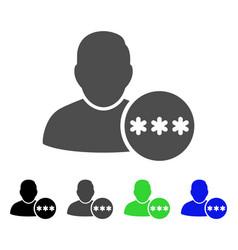 user hidden password flat icon vector image