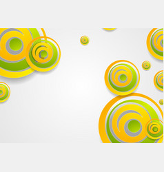 Vibrant green and orange creative circles abstract vector