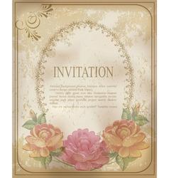 vintage invitation background vector image vector image