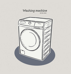 washing machine hand draw sketch vector image