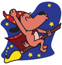 Wizards Dog vector image