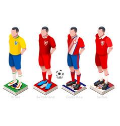 world cup football shirts vector image
