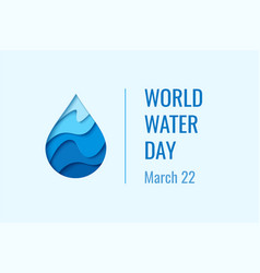 World water day - waterdrop concept vector