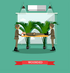 Wounded soldier concept vector