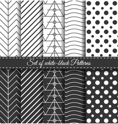 Set of black white Pattern3 vector image