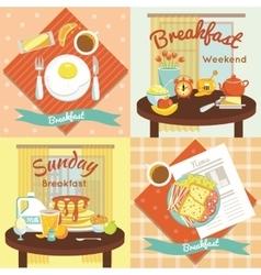 Breakfast Flat Icon Set vector image vector image