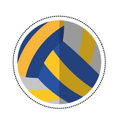 cartoon volleyball ball sport icon vector image vector image