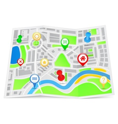 paper map vector image vector image