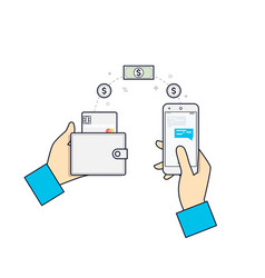 people sending and receiving money payments using vector image vector image