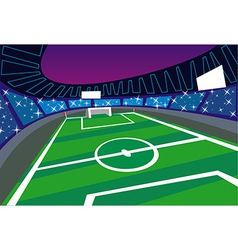 Soccer Stadium Perspective vector image vector image