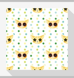 Animal seamless pattern collection with cat 5 vector image