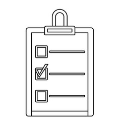 checklist icon outline style vector image