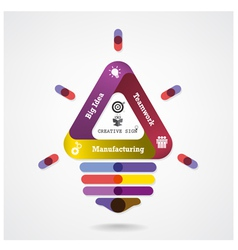 Creative infographics light bulb idea concept vector image vector image