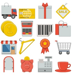 Flat Icons Retail vector image