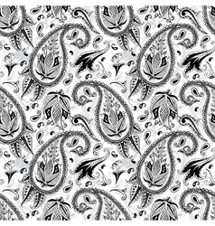 Hand drawn paisley seamless pattern vector image vector image