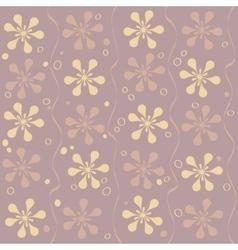 seamless beautiful flower pattern vector image