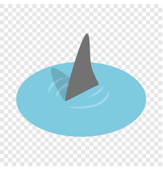 shark in the sea isometric icon vector image