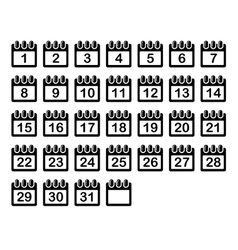 Simple Calendar Month Icons Set vector image