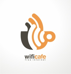 Creative logo design template for cafe vector image vector image