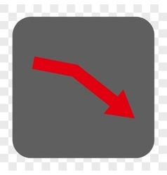 Fail trend rounded square button vector