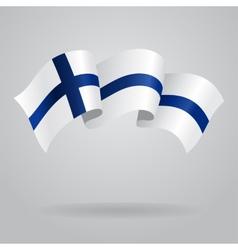 Finnish waving Flag vector image vector image