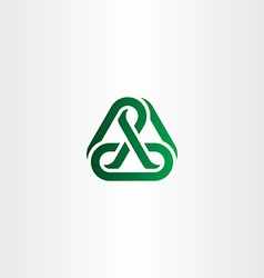 green chain icon link logo vector image